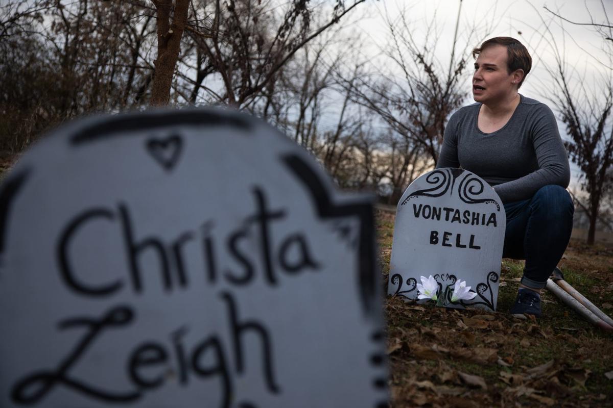 Photos: Metro Trans Umbrella Group make Transgender Memorial Garden into Graveyard ahead of Vigil
