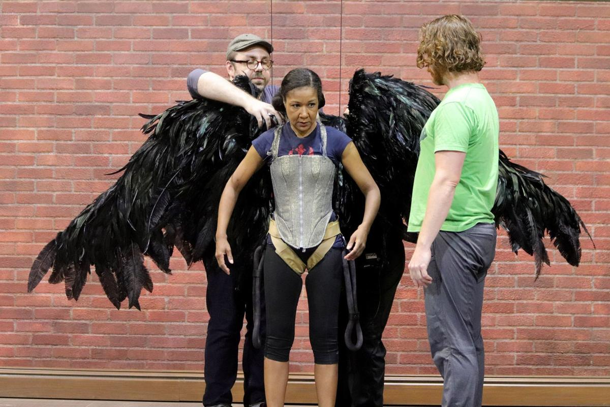 The Rep Angels in America rehearsal