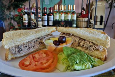 The Italian tuna salad sandwich is featured at Viviano's
