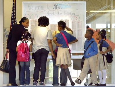 First day of St. Louis Public Schools 2012