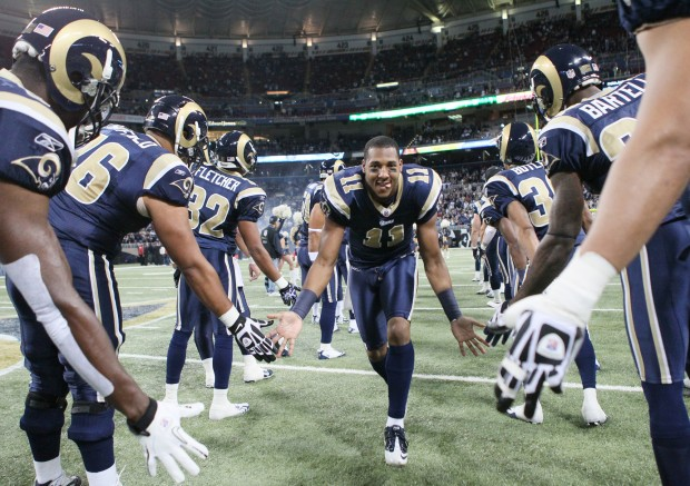 The St. Louis Rams played the San Francisco 49ers at the Edward Jones Dome in St. Louis, Mo.