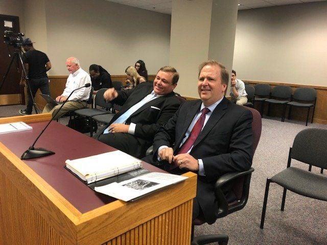 Missouri Times publisher Scott Faughn (left) and his attorney Chuck Hatfield
