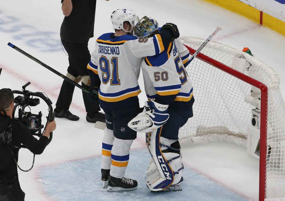 Photos: Blues win in Boston for 3-2 series lead