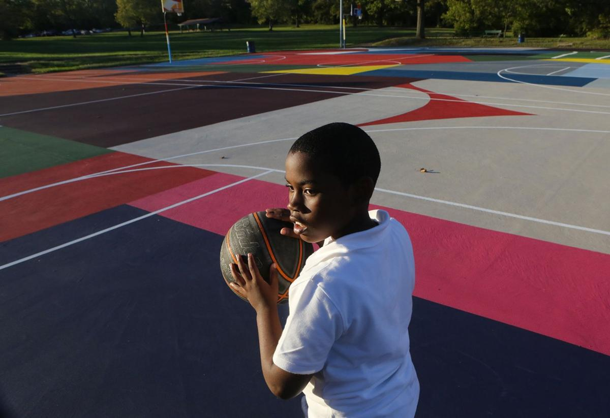 Kinloch basketball courts get a makeover