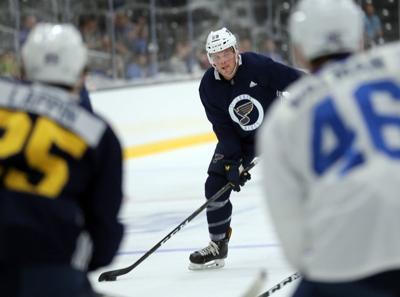 St. Louis Blues pre-season starts, Jake Dotchin