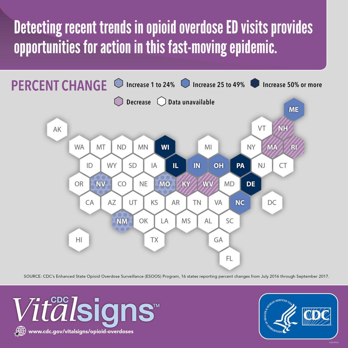 Opioid overdose map