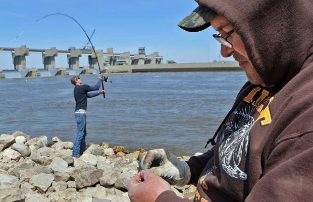 Paddle fishing is big on the Mississippi River