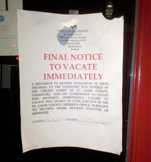 Jumpin Jupiter Gets Eviction Notice In Maplewood Off