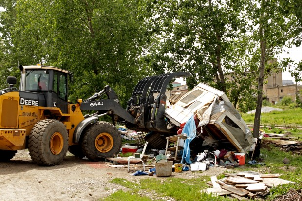 City demolishes Hopeville, the second homeless encampment