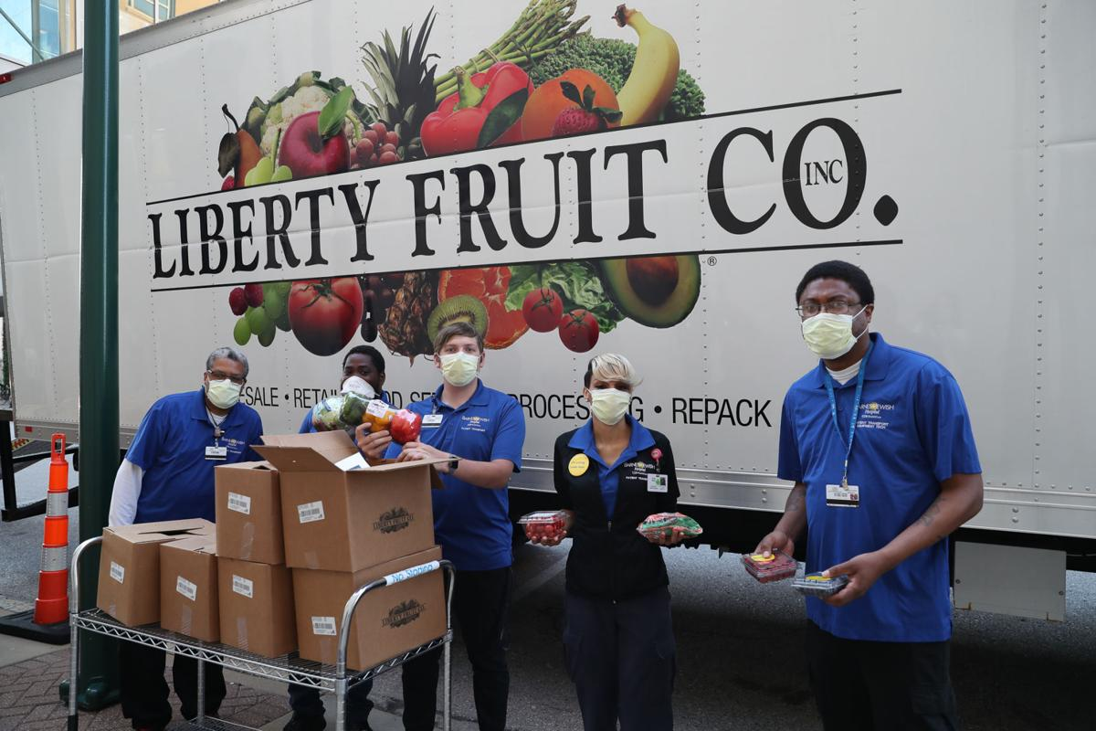 #ProduceBoxProject  Each healthcare worker leaving their shift got a box of produce