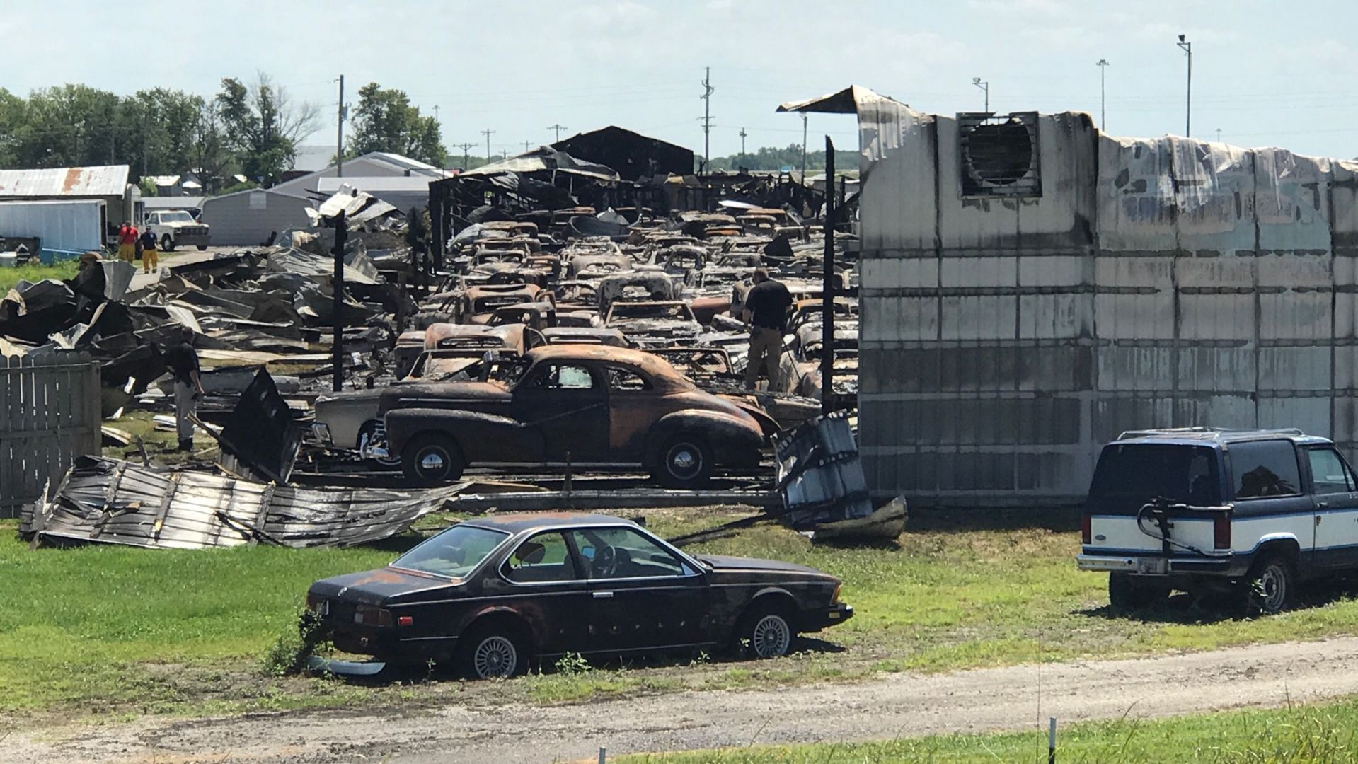 Dozens of antique cars damaged in massive Staunton fire