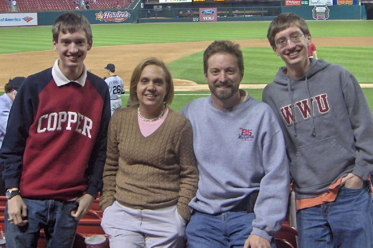 Blaes family at St. Louis Cardinals game in 2006