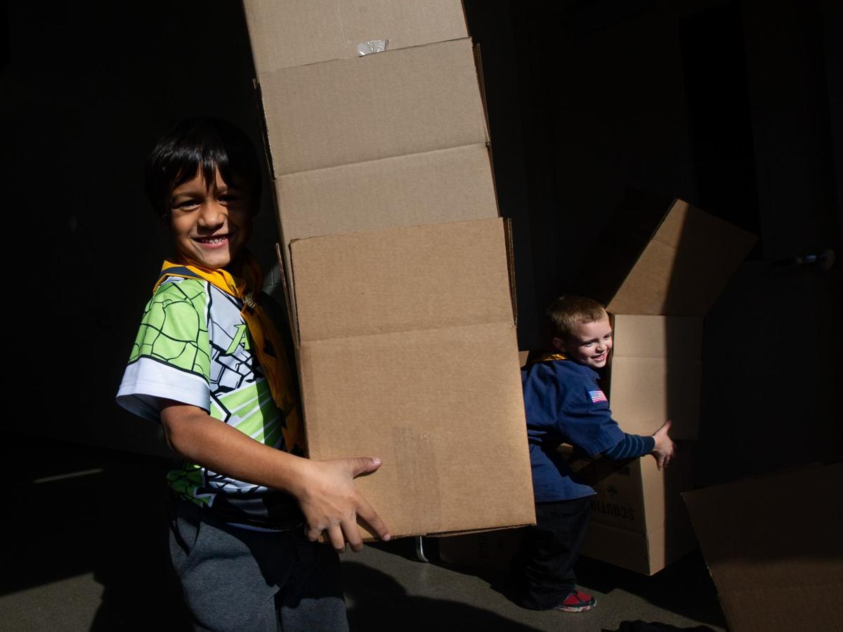Photos: Local Scouts collect donated food for the St. Louis Area foodbank