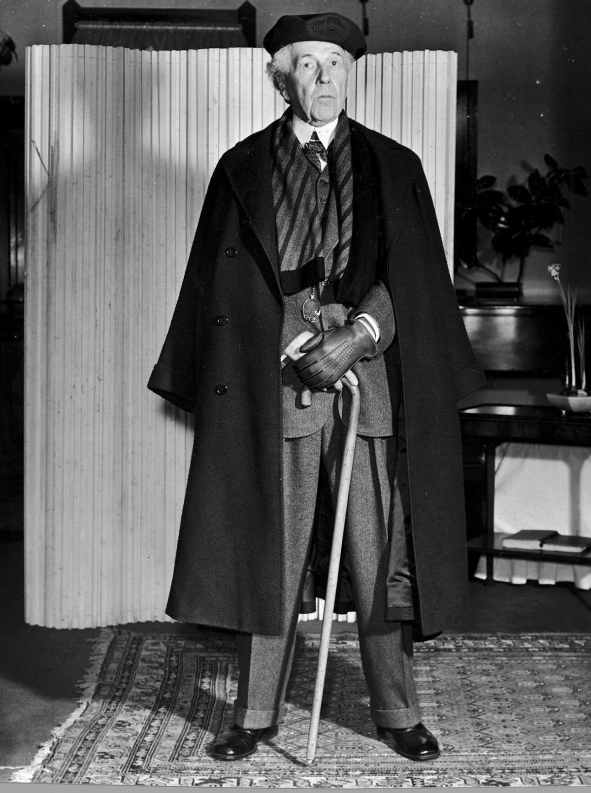 Frank Lloyd Wright, in January 1939 in St. Louis