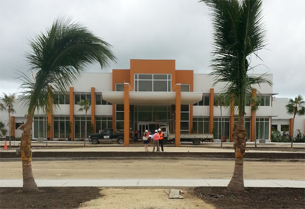 Ascension's construction site for its Health City Cayman Islands project
