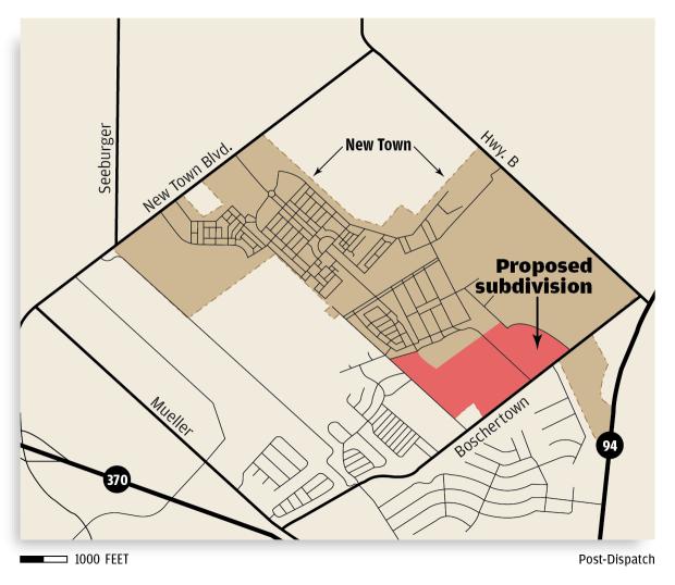 Proposed subdivision site