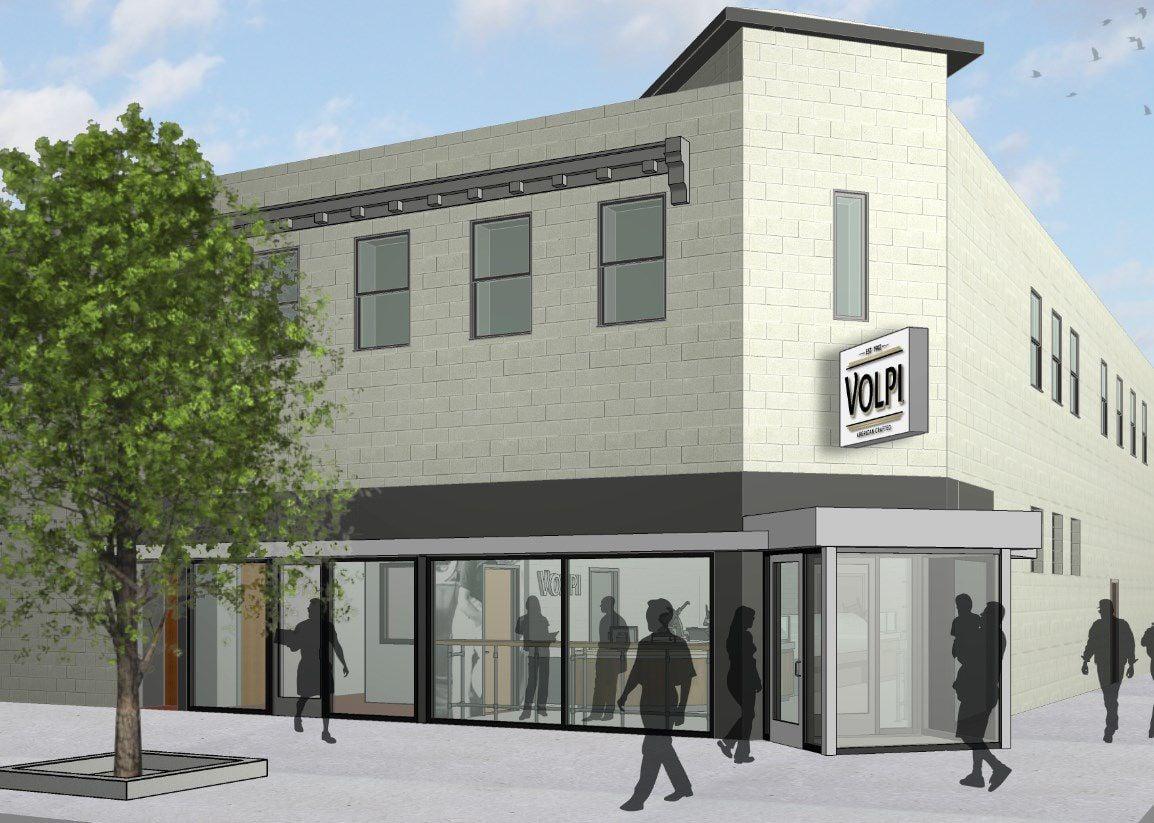 Rendering of Volpi exterior remodeling