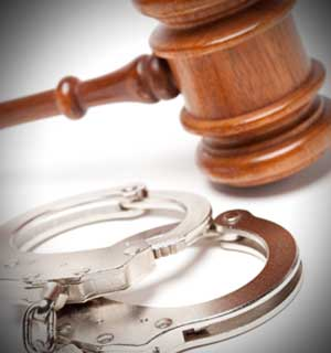 Gavel and cuffs