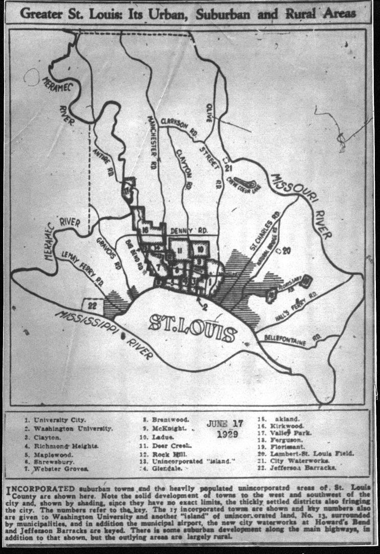 County map, 1929