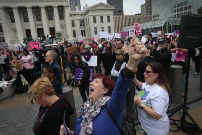 Hundreds rally for abortion rights