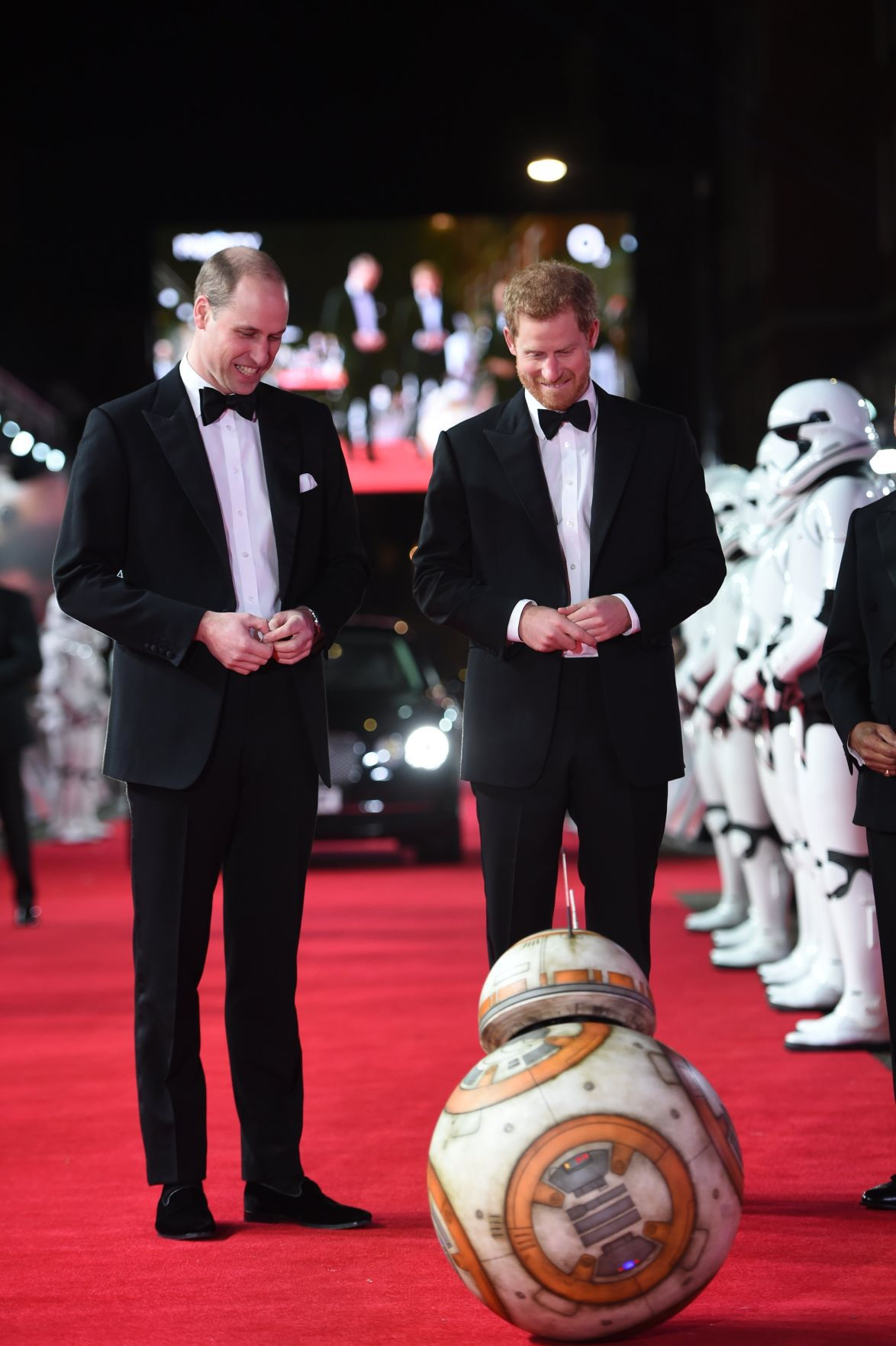 Star Wars The Last Jedi premieres in Britain Princes William and