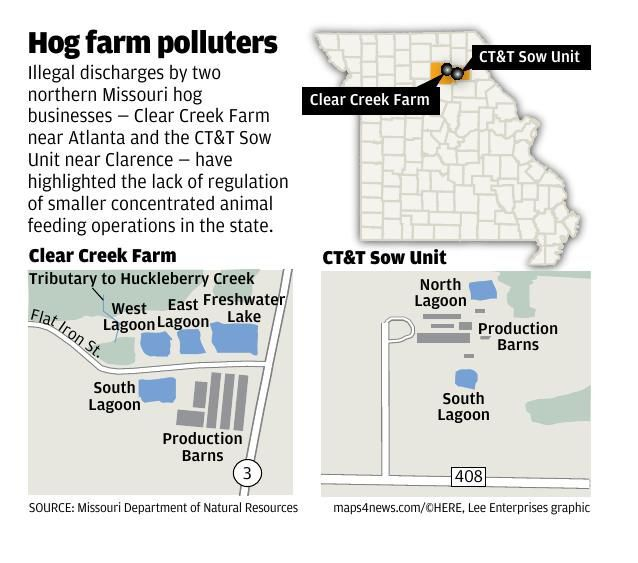Spills from two factory farms damaged nearby waterways