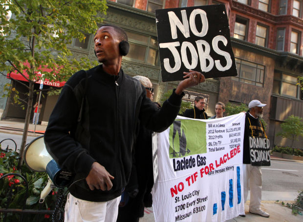Group protests Laclede Gas TIF package proposal