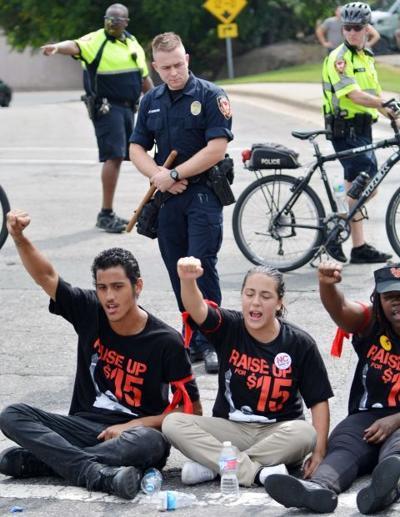 Fast Food Protests North Carolina