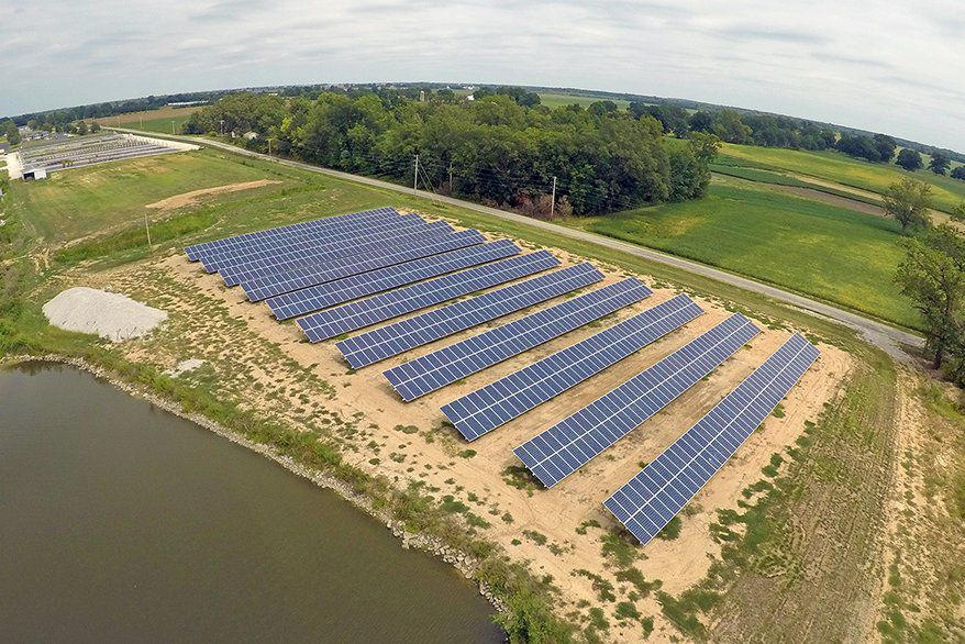 A Solar Farm At Home Nursery Whole In Albers Ill The Was Installed December 2016 By Straight Up Comprised Of 10 Systems And
