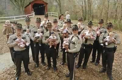 Jefferson County Deputies show off their 'Prop P' babies