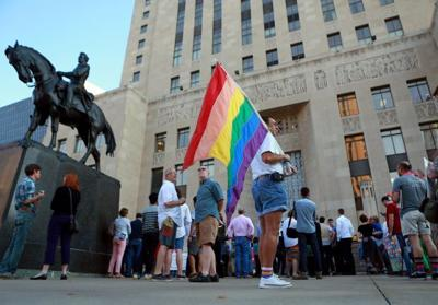 Same-sex couples rally for Missouri rights in Kansas City