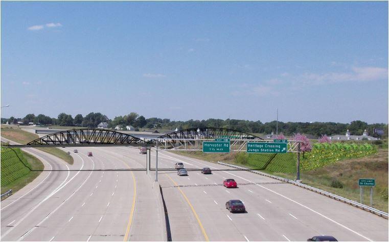 Centennial Greenway bridge over Highway 364