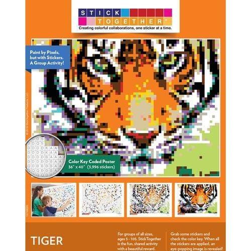 Sticker mosaic tiger