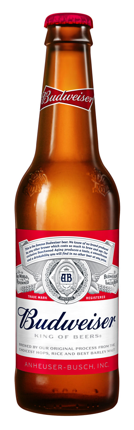 Gold turns to platinum in budweiser label revamp business - Budweiser beer pictures ...