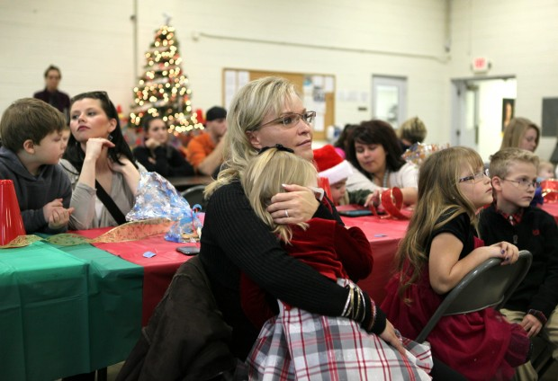 Families of Missouri National Guard members deployed to Afghanistan celebrate Christmas