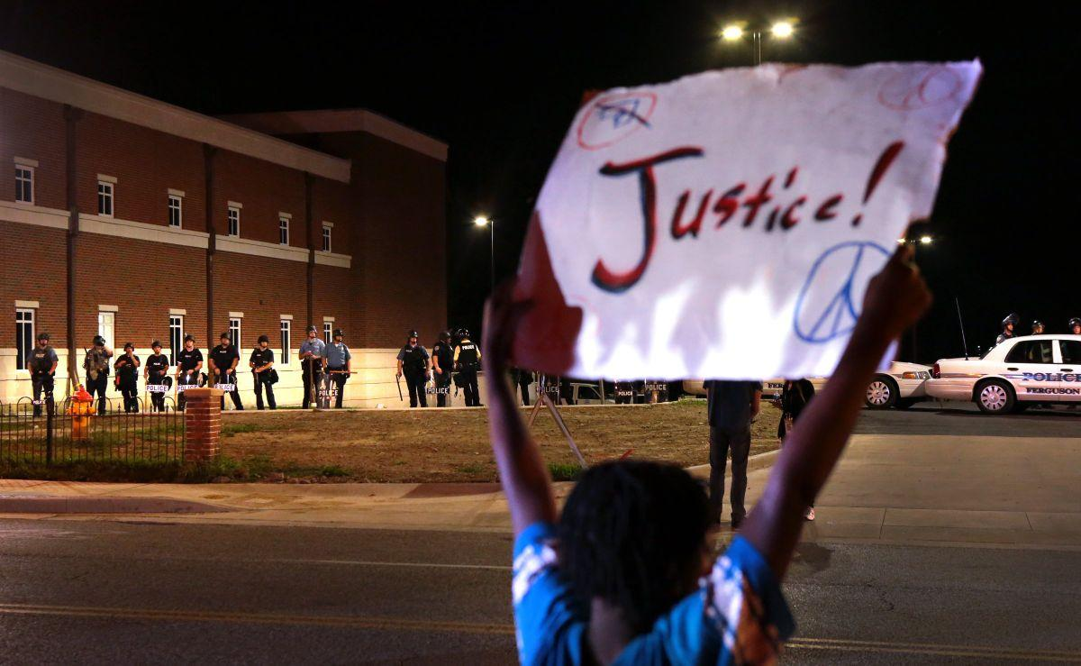 Peaceful protest in Ferguson
