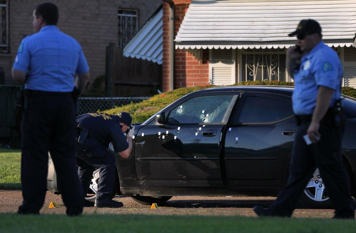 Shooting scene at Norwood Court