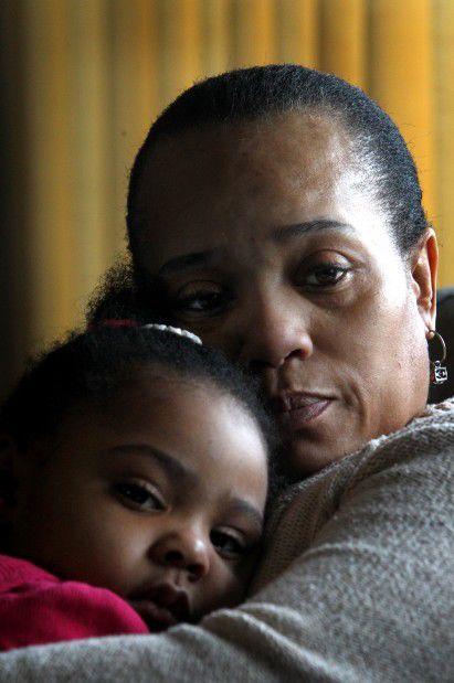 Dorothy Davis holding granddaughter Isabel Price