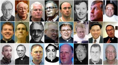 Photos of priests on the archdiocesan list of substantiated allegations of sexual abuse
