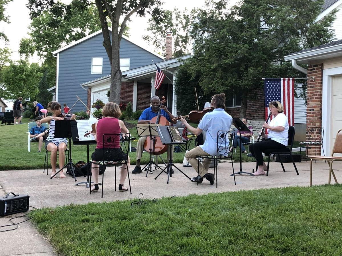 A driveway concert in West County