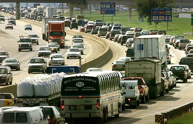Traffic along I-70