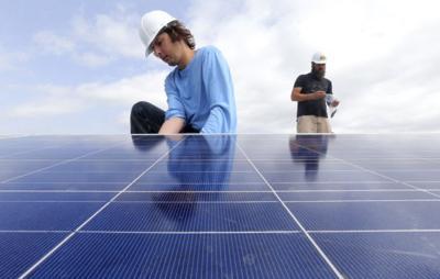 Solar panels install