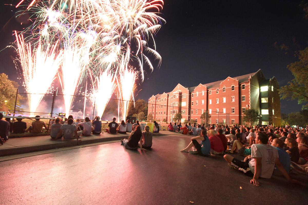 The annual PantherPalooza welcomes Drury University students each fall –complete with a fireworks display in the heart of campus.