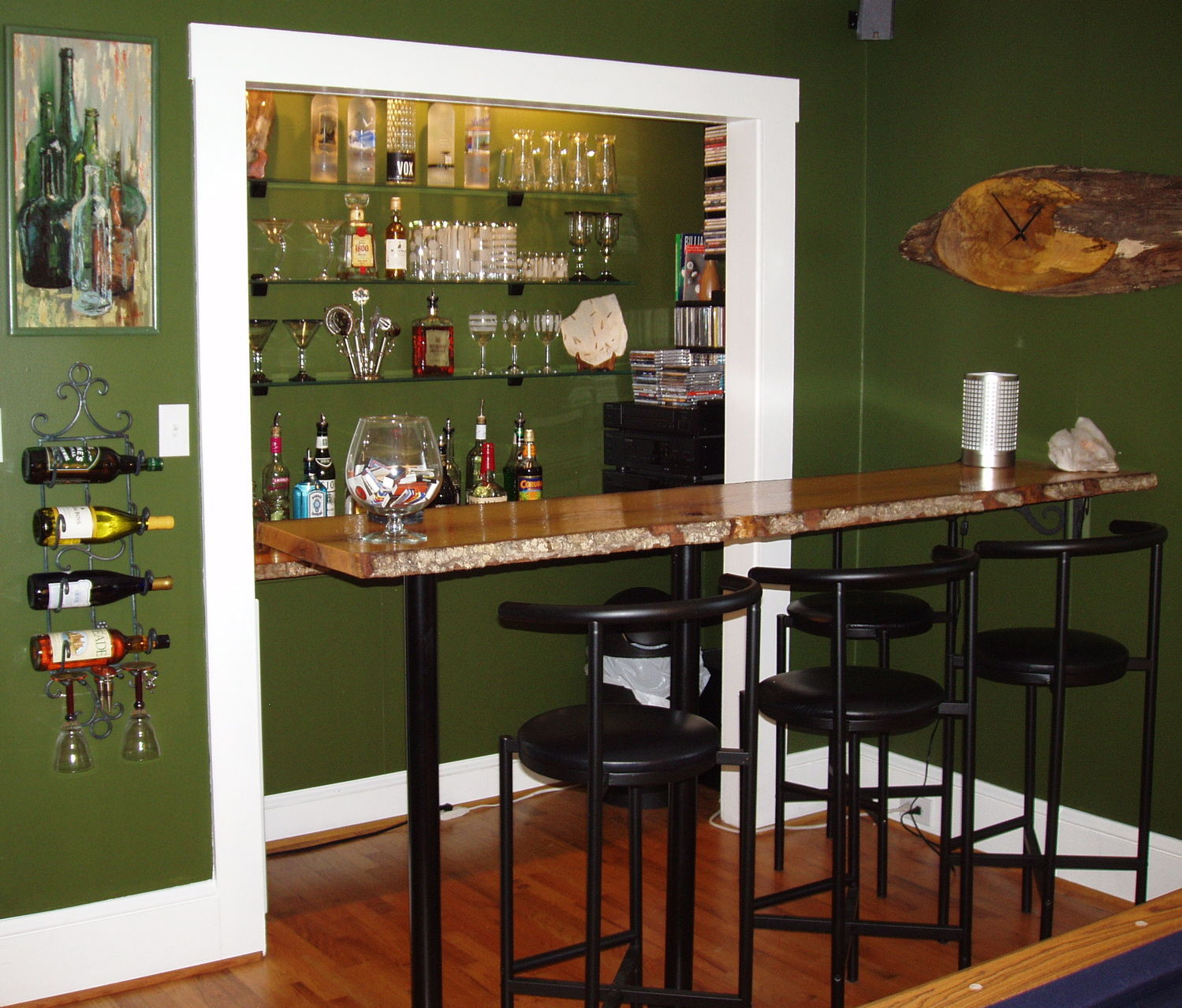 A Repurposed Closet Designed By Julie Cargill. She Turned A Closet Into A  Bar Area