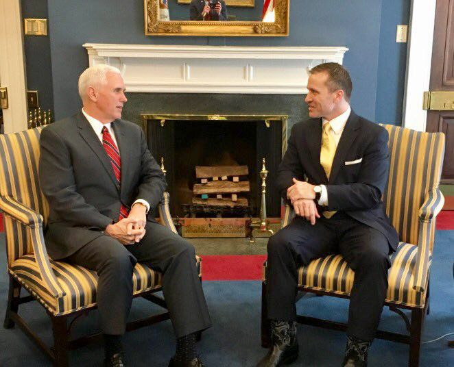 Vice President Mike Pence and Missouri Governor Eric Greitens