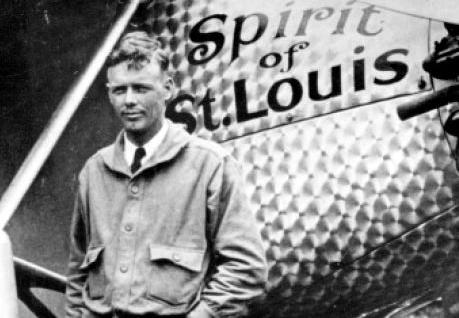 Charles Lindbergh with Spirit of St. Louis, 1927