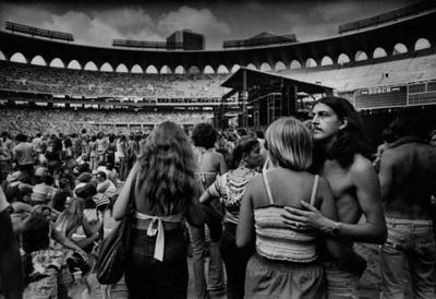 Waiting for Superjam '77 at Busch Stadium