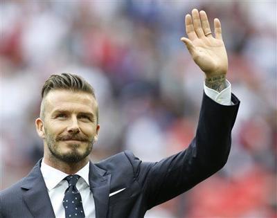 Dapper David Beckham