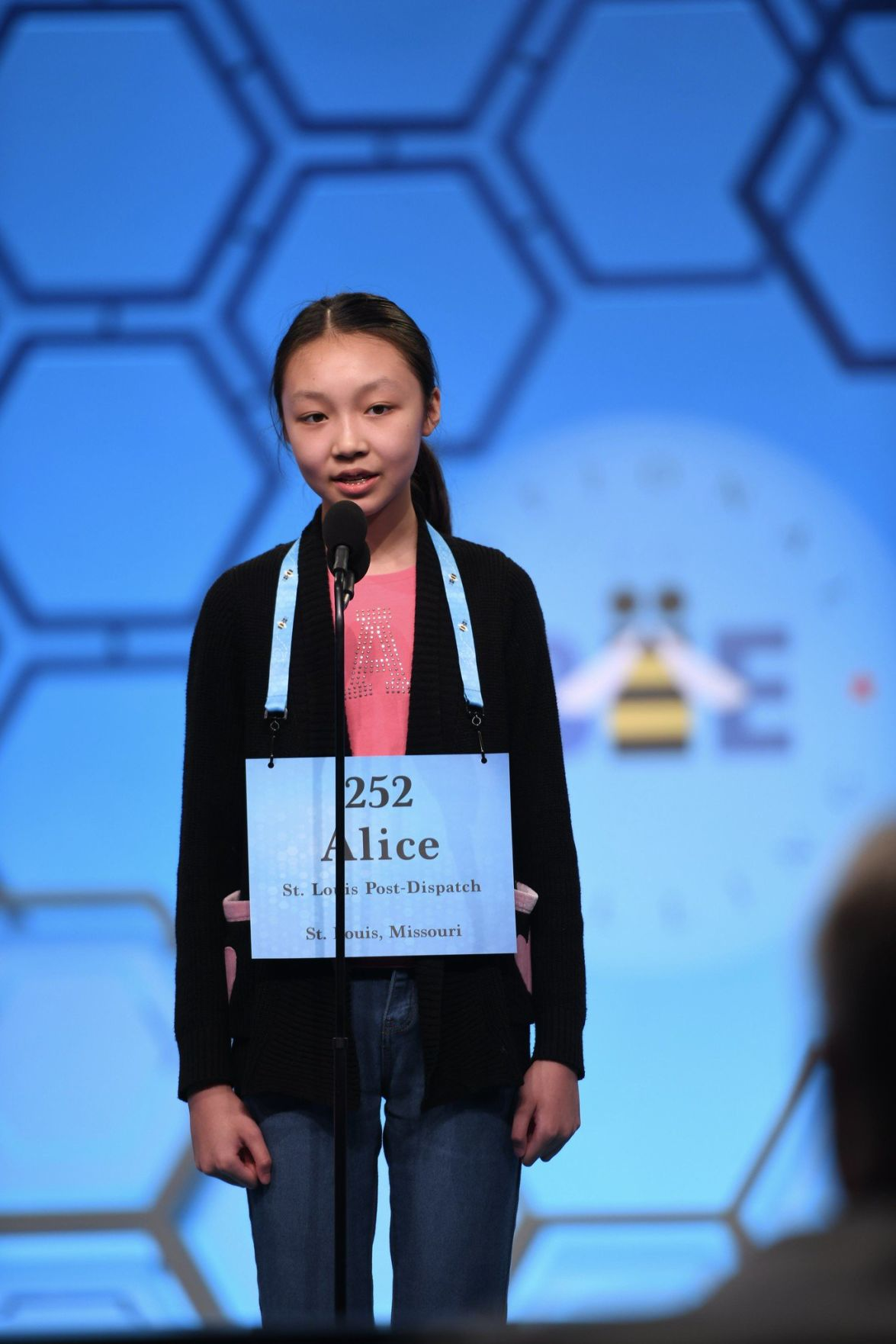 Alice Liu in 2019 National Spelling Bee