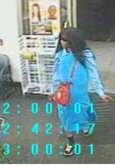 Surveillance image from robbery